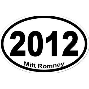 Mitt Romney 2012 - Oval Sticker