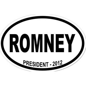 Mitt Romney For President - Oval Sticker
