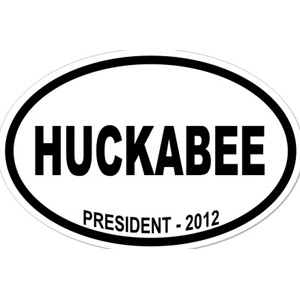 Mike Huckabee For President - Oval Sticker